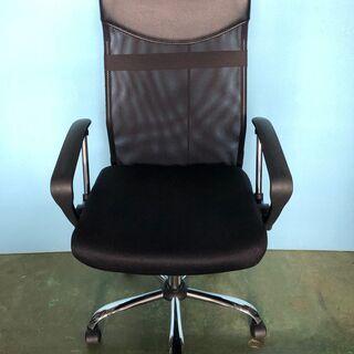 メッシュチェア オフィスチェア 椅子 事務所 デスク ブラック/黒 肘あり ②の画像