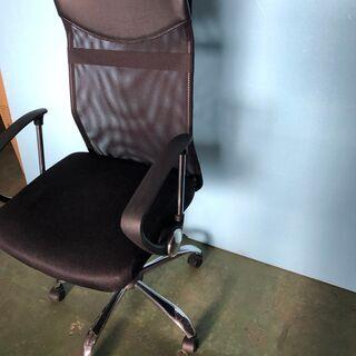 メッシュチェア オフィスチェア 椅子 事務所 デスク ブラック/黒 肘あり ② - 港区