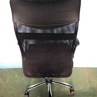 メッシュチェア オフィスチェア 椅子 事務所 デスク ブラック/黒 肘あり ② - 家具