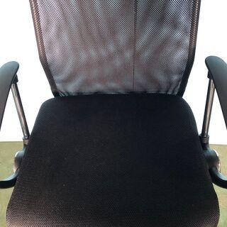 メッシュチェア オフィスチェア 椅子 事務所 デスク ブラック/黒 肘あり ② − 東京都
