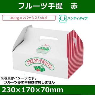 【ネット決済】ギフトBOX フルーツ手提げ箱 10枚新品