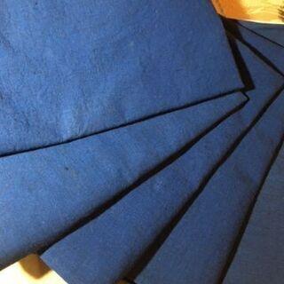 青梅木綿の座布団カバ-5枚組未使用に近い