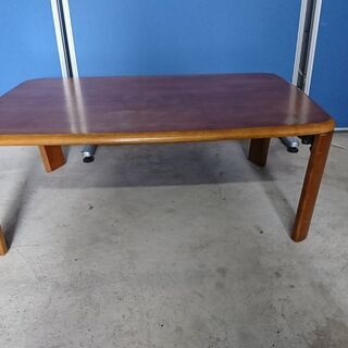 折り畳み式 ちゃぶ台 ローテーブル ブラウン 木製 H33…