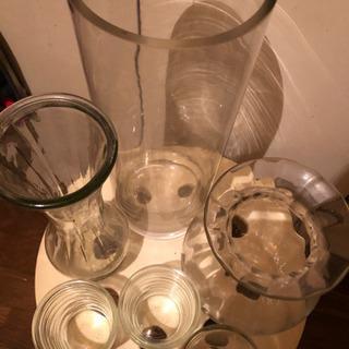 花瓶ガラス製のセット