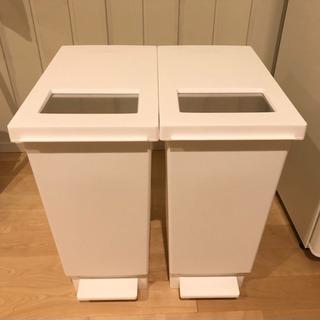 【2個セット】ゴミ箱 30L ユニード プッシュ&ペダル 蓋付き