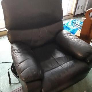 一人掛け電動リクライニングソファー(ブラック)