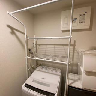 洗濯機ラック クルス(ピュアホワイト) ニトリ