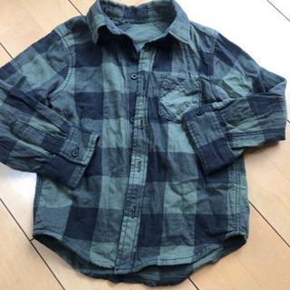 H&M 100 チェックシャツ ネルシャツ