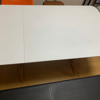 週末最終値下げ 伸長式ダイニングテーブル ホワイト