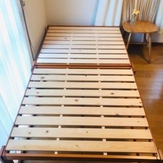 【ネット決済】ヒノキ すのこベッド 中居木工 ワイドシングル ハ...