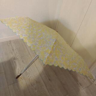 折り畳み傘 黄色 花柄