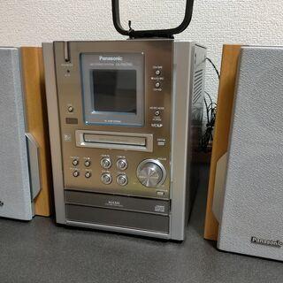 Panasonic SC-PM37MD CD MDコンポ カセッ...