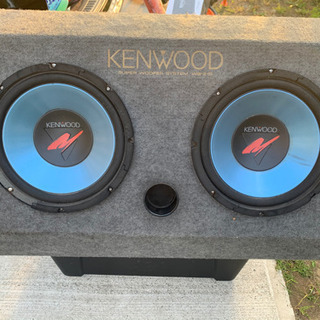 kenwood  ウーファー 2発 BOX付き