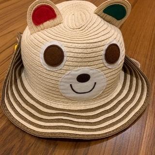 ミキハウス ベビー麦わら帽子 夏用帽子 ハット