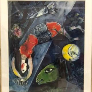 有名絵画レプリカ マルク シャガール 代表作「青いサーカス」