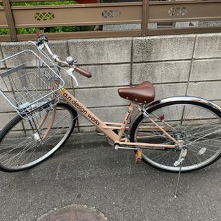【受け渡し予定者決定】シティサイクル★サイズ27・6ギア付・ベージュ