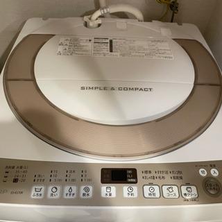 SHARP 洗濯機 ES-KS70R 2016年製
