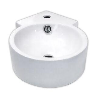 【狭小空間支援】コーナー陶器洗面ボウル