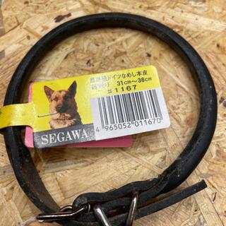 最高級ドイツなめし本皮 中型犬用首輪 黒 3