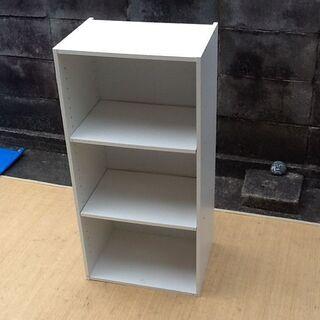 【1個だけ】収納 3段可動棚ボックス 清潔なホワイト 組立て済み...