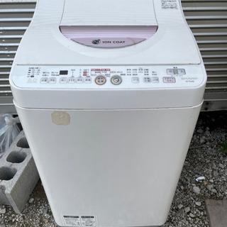 ヒーター乾燥機能付き【6.0kg シャープ 洗濯機 2013年製...