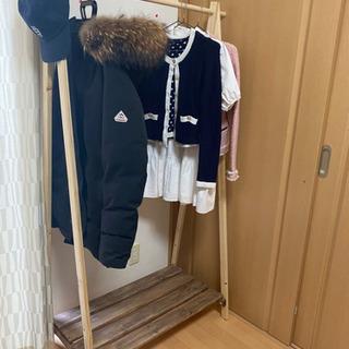 【ネット決済】木製ハンガーラック