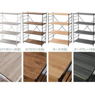 【ネット決済・配送可】ラック 木製 棚板 (幅86 奥行42) ...