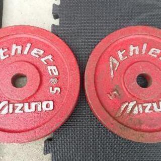 プレート5kg 2枚 バーベル ダンベル