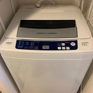 【ネット決済】【洗濯機】AQUA 2016年製 7kg (6/1...