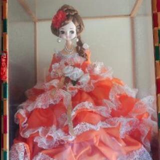 かなり大きいアンティークドール 西洋人形 ドレス ロリータ 昭和...
