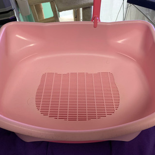 猫のピンクトイレ