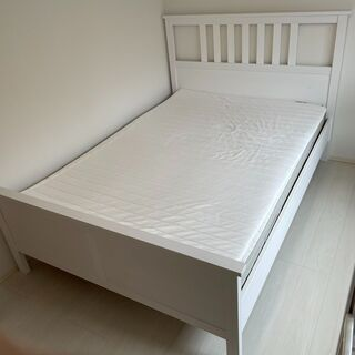 【ネット決済】IKEA   ダブルベット HEMNES ヘムネス