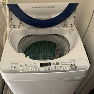 洗濯機 sharp es-g7e2 7kg