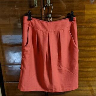 【古着】オレンジタイトスカート