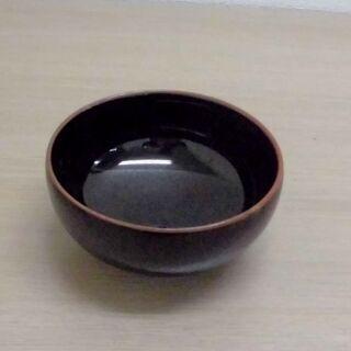 JM11076)白山陶器 黒い茶碗【取りに来られる方限定】