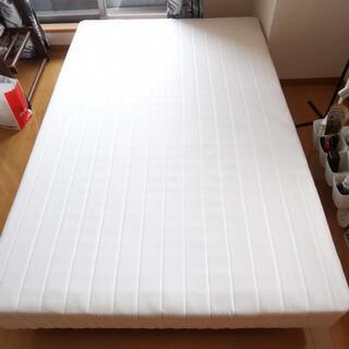 セミダブルベッド 脚付きマットレス ホワイト