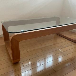 ガラス×WOODのローテーブル、差し上げます!
