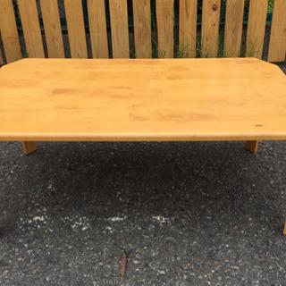◆使用感あり格安◆折りたたみ式 ローテーブル 木目 ナチュ…