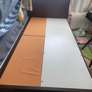 【差し上げます】ニトリ  収納付シングル ベッドフレーム