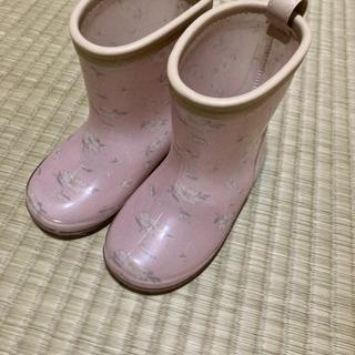 花柄長靴 ほぼ新品 14cm