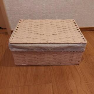 【決まりました】紙紐 蓋付きボックス やや汚れあり