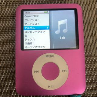 中古iPod nano 第3世代8GBピンク カバー付