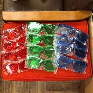 光るサングラス/赤青緑3色/新品未使用/12個セット/大量…