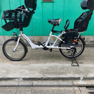 【ネット決済】mamafre  子供乗せ自転車 3人乗り 幼児2...