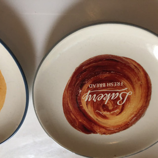 可愛い皿二枚セット