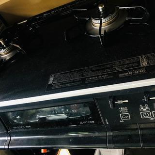 パロマ 高級ガスコンロ PA-63WCK ブラック 美品