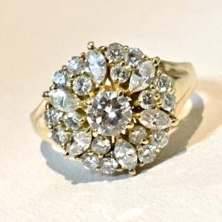 18kダイヤモンドリング