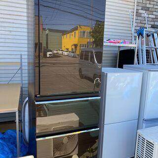 美品 三菱 3ドア冷蔵庫 MR-CX37F-BR 365L 右開...