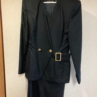 黒スーツ 9号 ウール100%