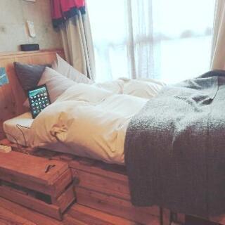 激おしゃれ!収納付きベッド ハンドメイド